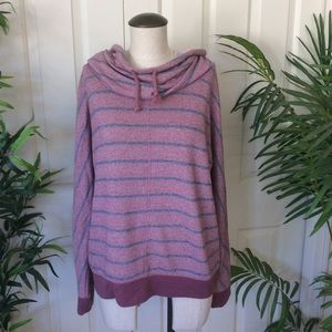 Mossimo Large Pink Blue Hoodie Pull Over